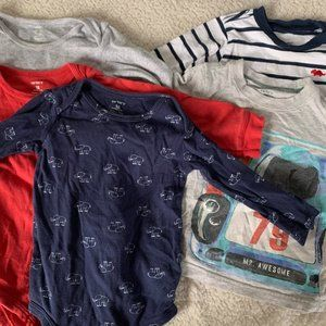 Carters Long Sleeve Shirts Blue 18 Month